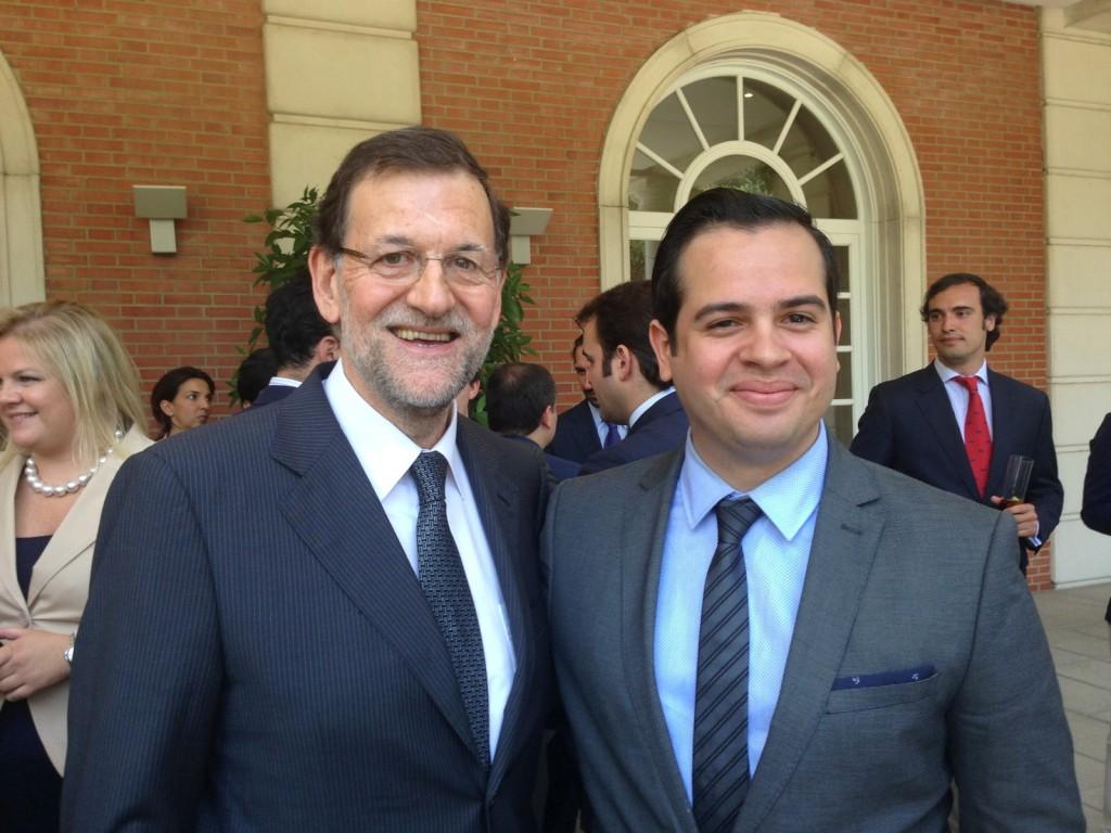 Rui Delgado con Mriano Rajoy, Presidente de España